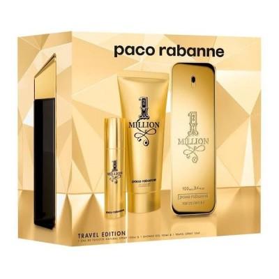 Paco Rabanne Kit 1 Million Travel Edition Eau de Toilette 100ml + Gel Banho 100ml + Travel Spray 10ml