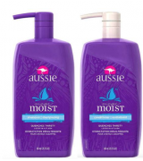 Kit Shampoo e Condicionador Aussie Moist 865ml