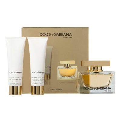Dolce Gabbana Kit The One Travel Eau De Parfum 75ml + Gel 50ml